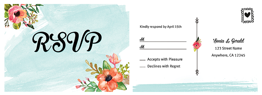 Wedding RSVP card design