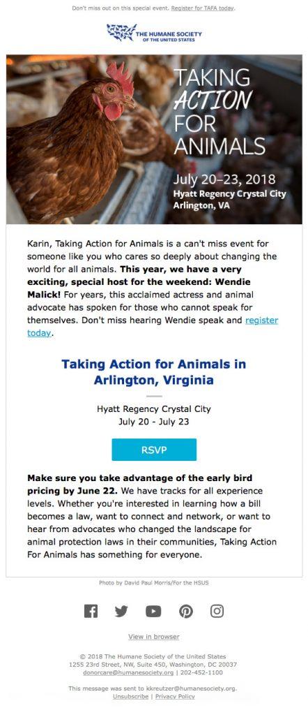 Event email design