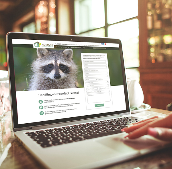Humane WIldlife Services Website